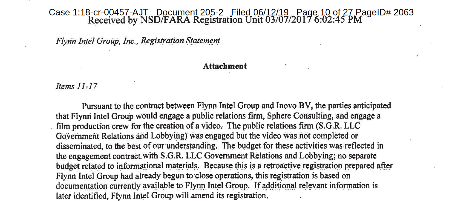 Flynn hired SGR LLC .png