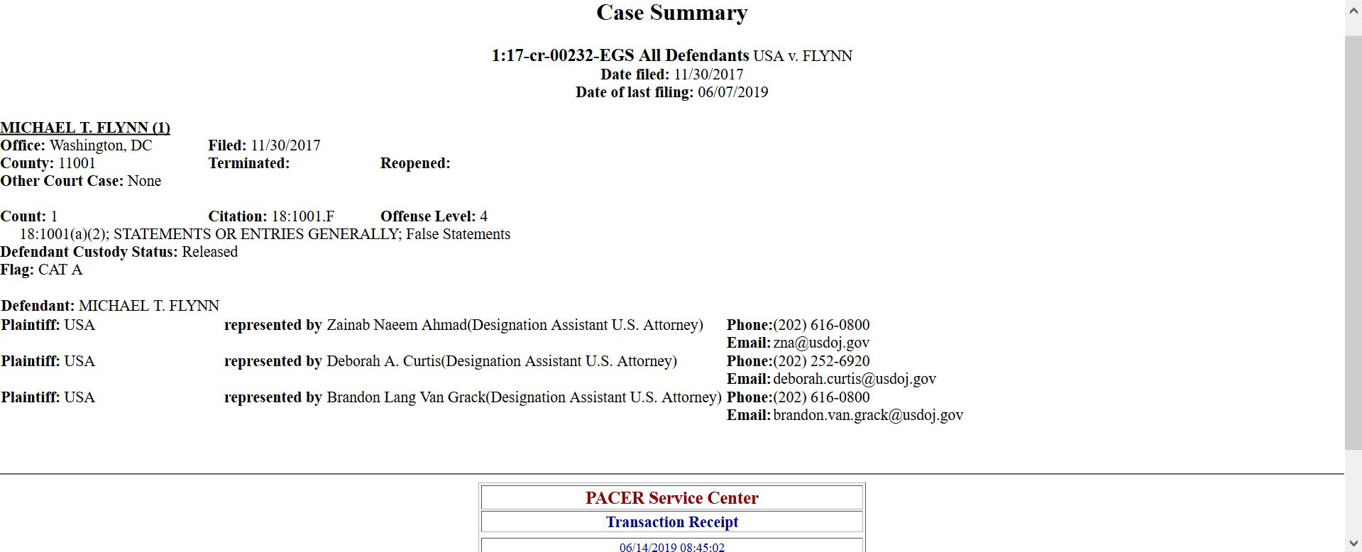 Flynn docket entries deborah curtis.png