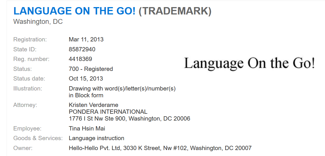 Verderame Language on the Go address and contact info.png
