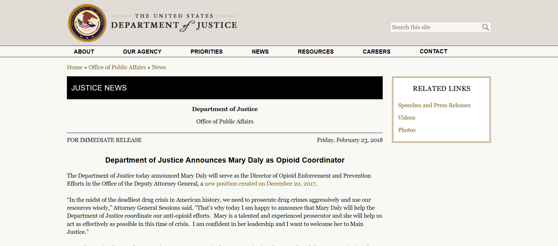 Barr daughter Mary Daly as Opioid Coordinator.png