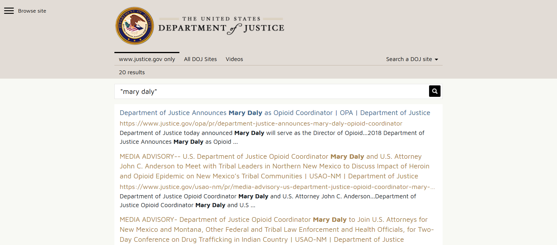 Barr Mary Daly DOJ search index.png