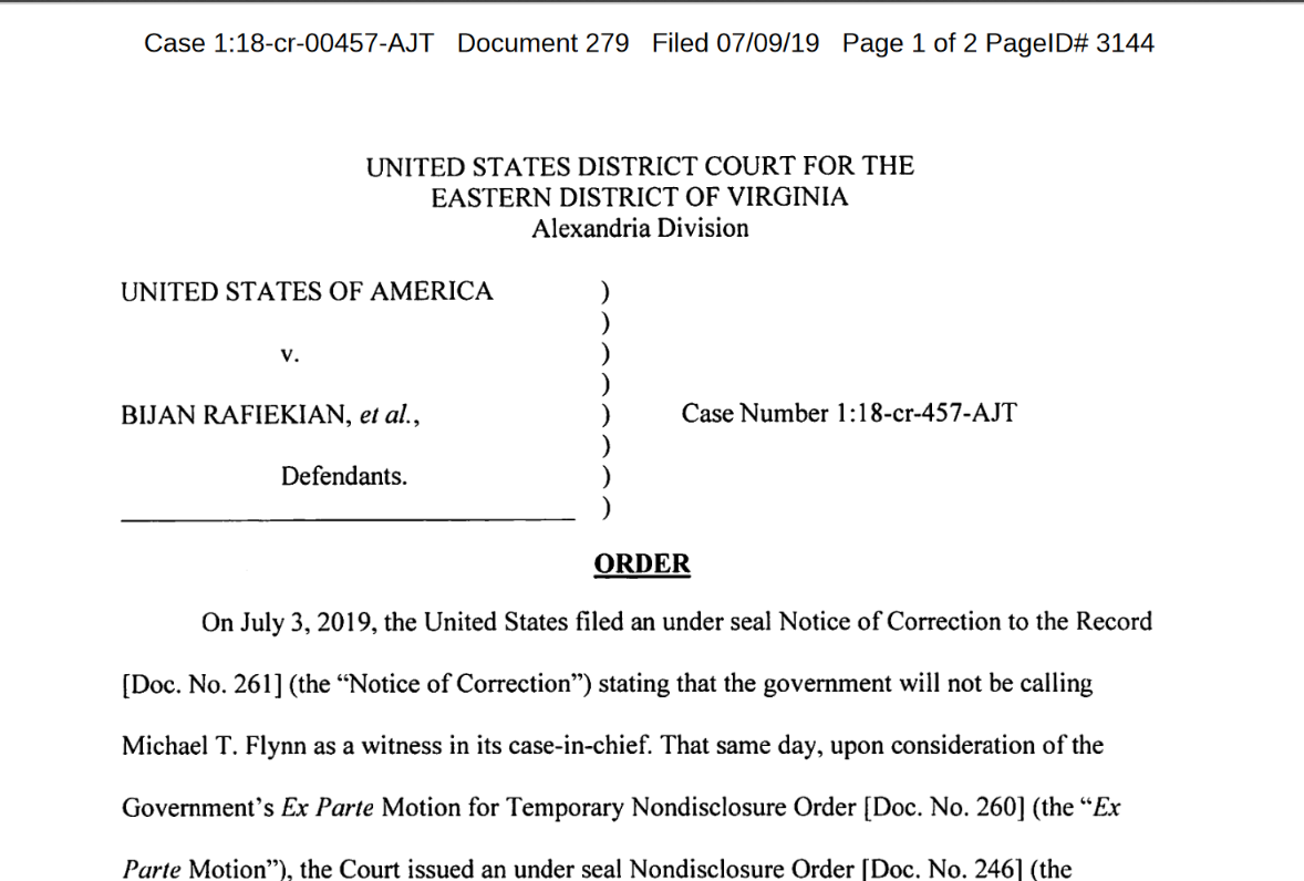 Trenga top half Flynn now labeled co conspirator by judge July 9th.png