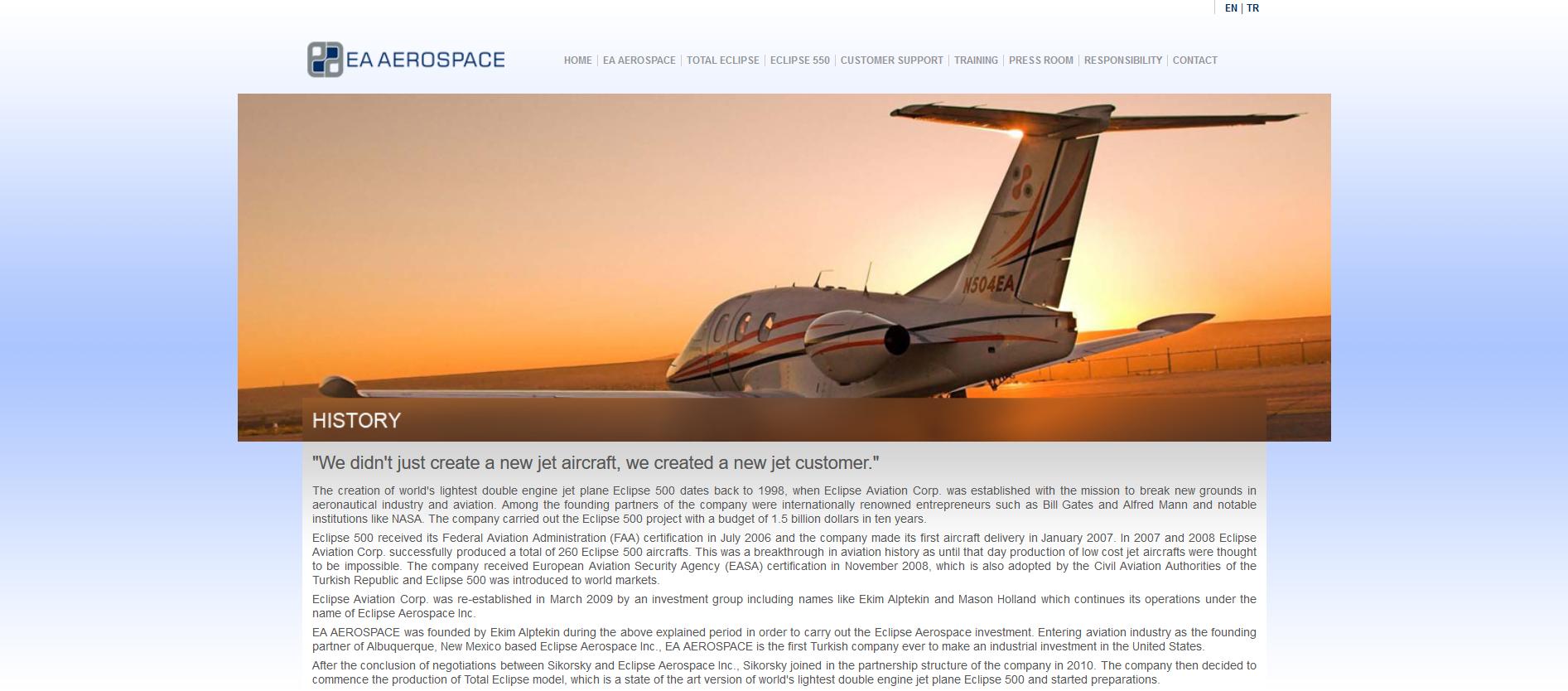 EA aerospace Alptekin plane history.png