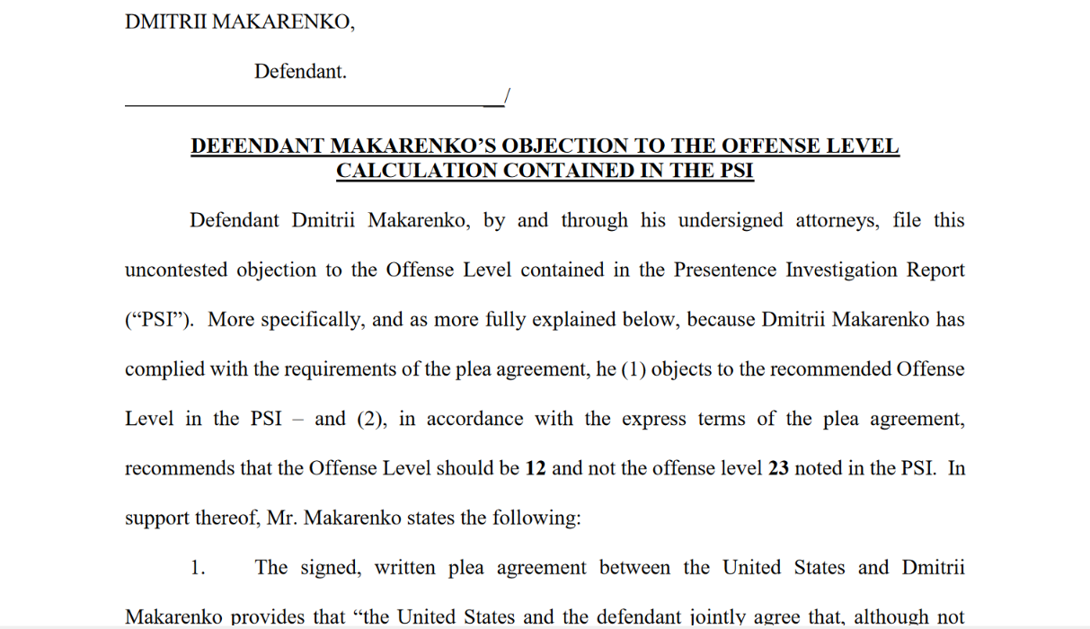 Makarenko middle panel July 8th PS report objection.png