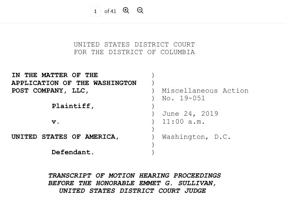 Powell third Flynn case WAPO top face transcript June 24th 2019.png