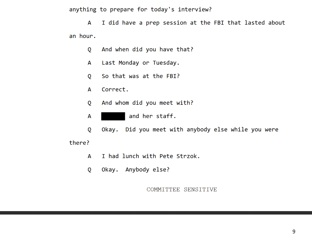 Giacalone Interview page nine lunch with Strzok.png