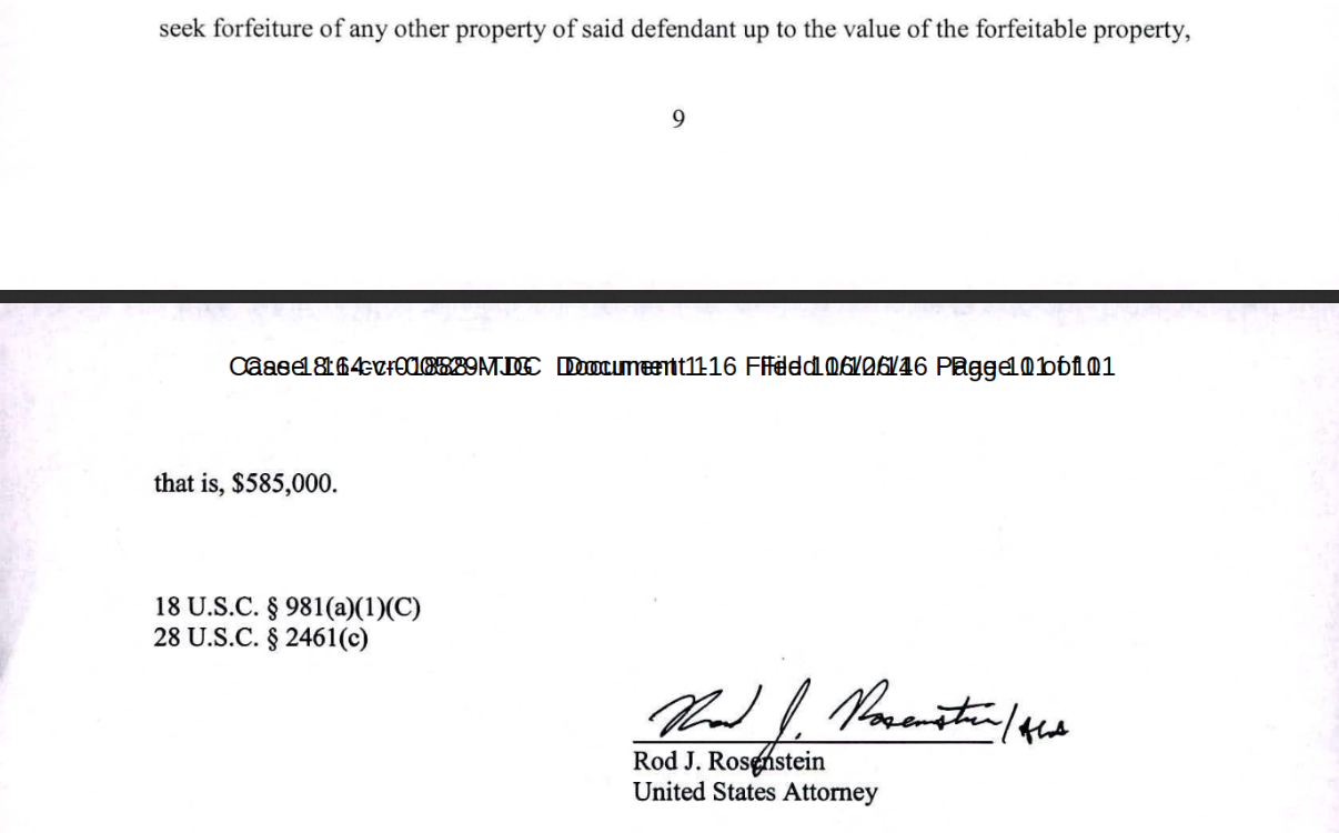 Rosenstein signed Mikerin's indictment ten pages dated Oct 2014.png