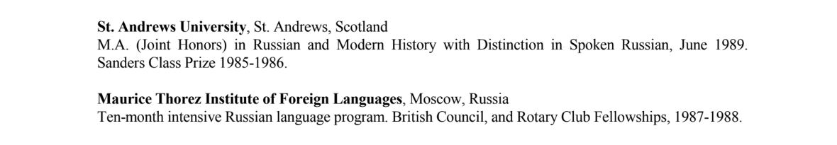 Hill resume two fluent Russian plus Moscow State.png