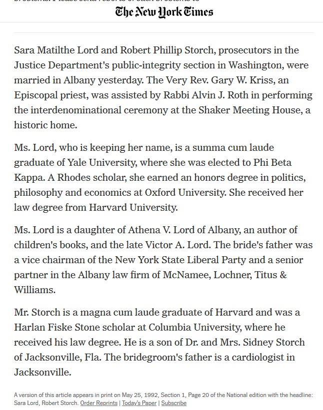 Storch marriage announcement NYT 1992 image whole story.png