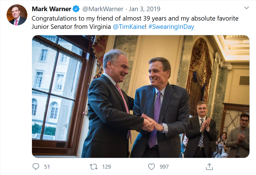 Warner tweeter shaking hands with Caine Jan 3rd 2019.png
