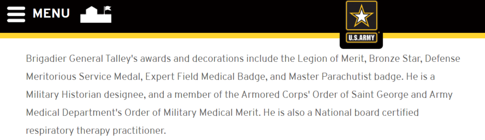 Ft Detrick Brig. Gen. Talley bd certified respiratory therapy practitioner image.png