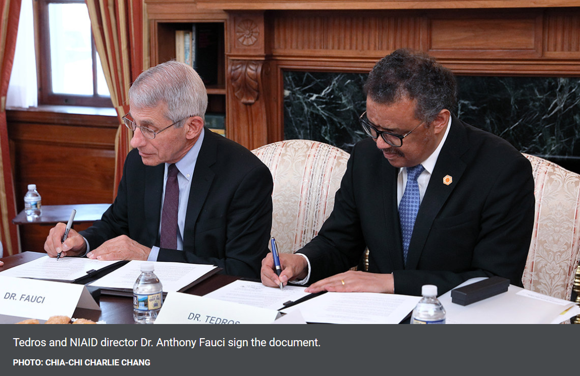 Fauci signs treaty for world vaccination plan