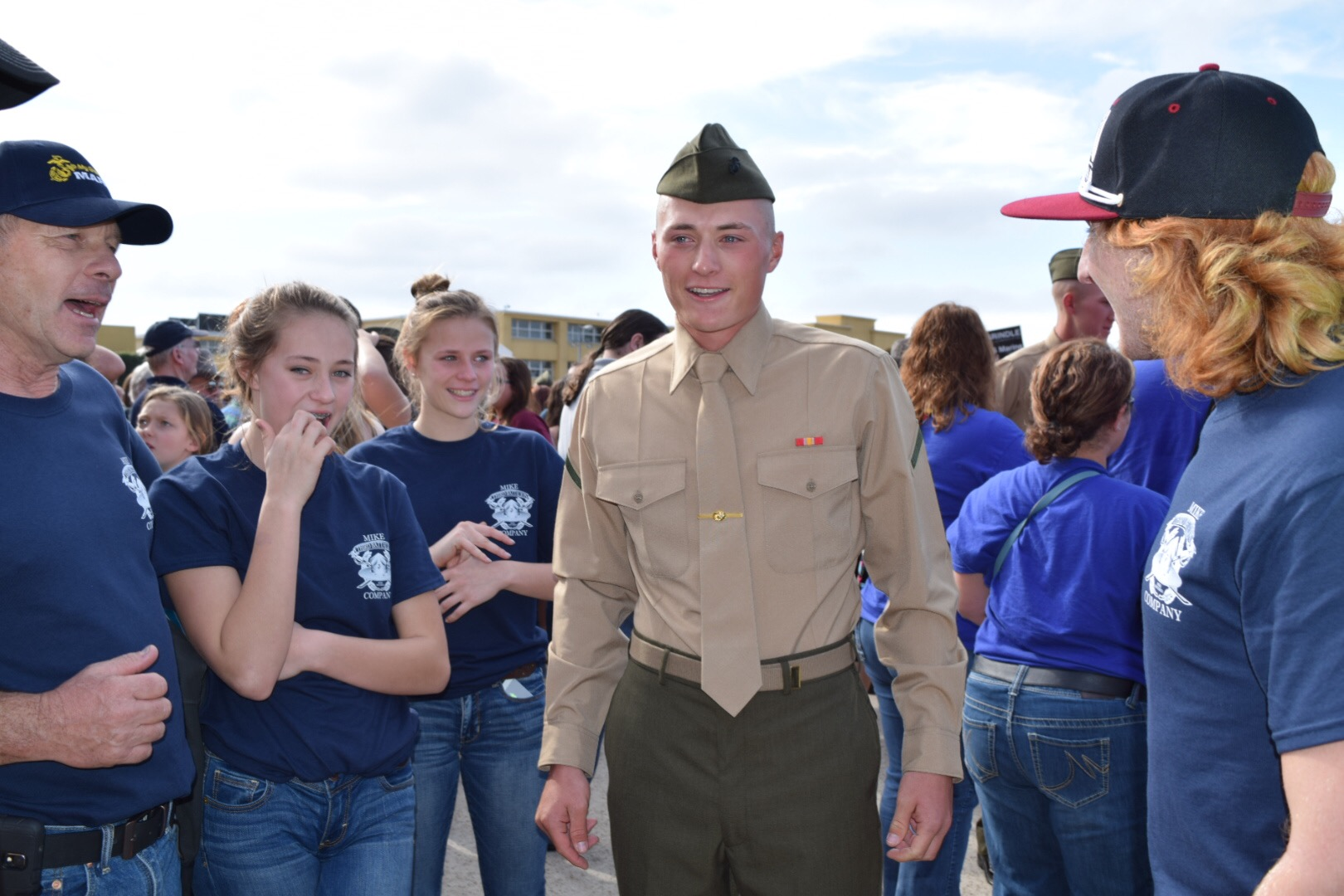 US Marine Corps Graduation from Bootcamp in San Diego. This was the first time we'd seen him in three months.