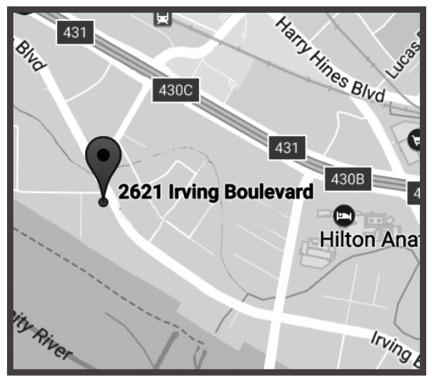 DALLAS - 2621 Irving BoulevardDallas, Texas 75207Ph: 214-631-6682Fx: 214-631-7855