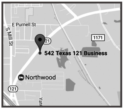 LEWISVILLE - 542 E. State Highway 121Lewisville, Texas 75057Ph: 972- 221-5731Fx: 972-221-0481