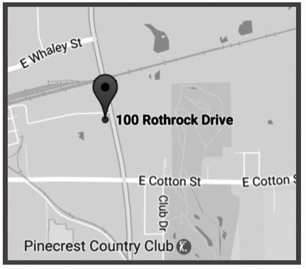 LONGVIEW - 100A Rothrock DriveLongview, Texas 75602Ph: 903-236-7274Fx: 903-236-7277