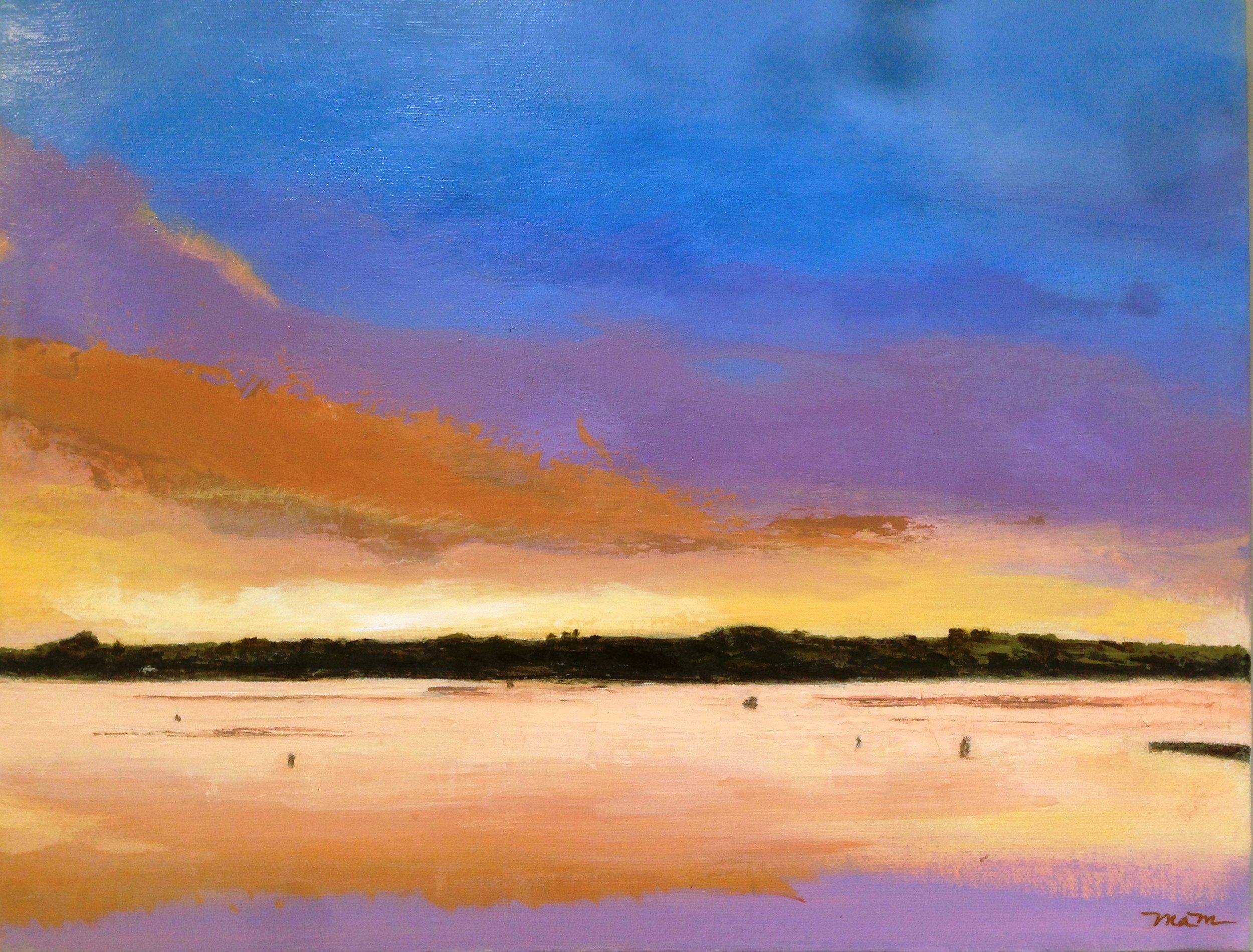 COMMISSION   Boston Sunset   11x14