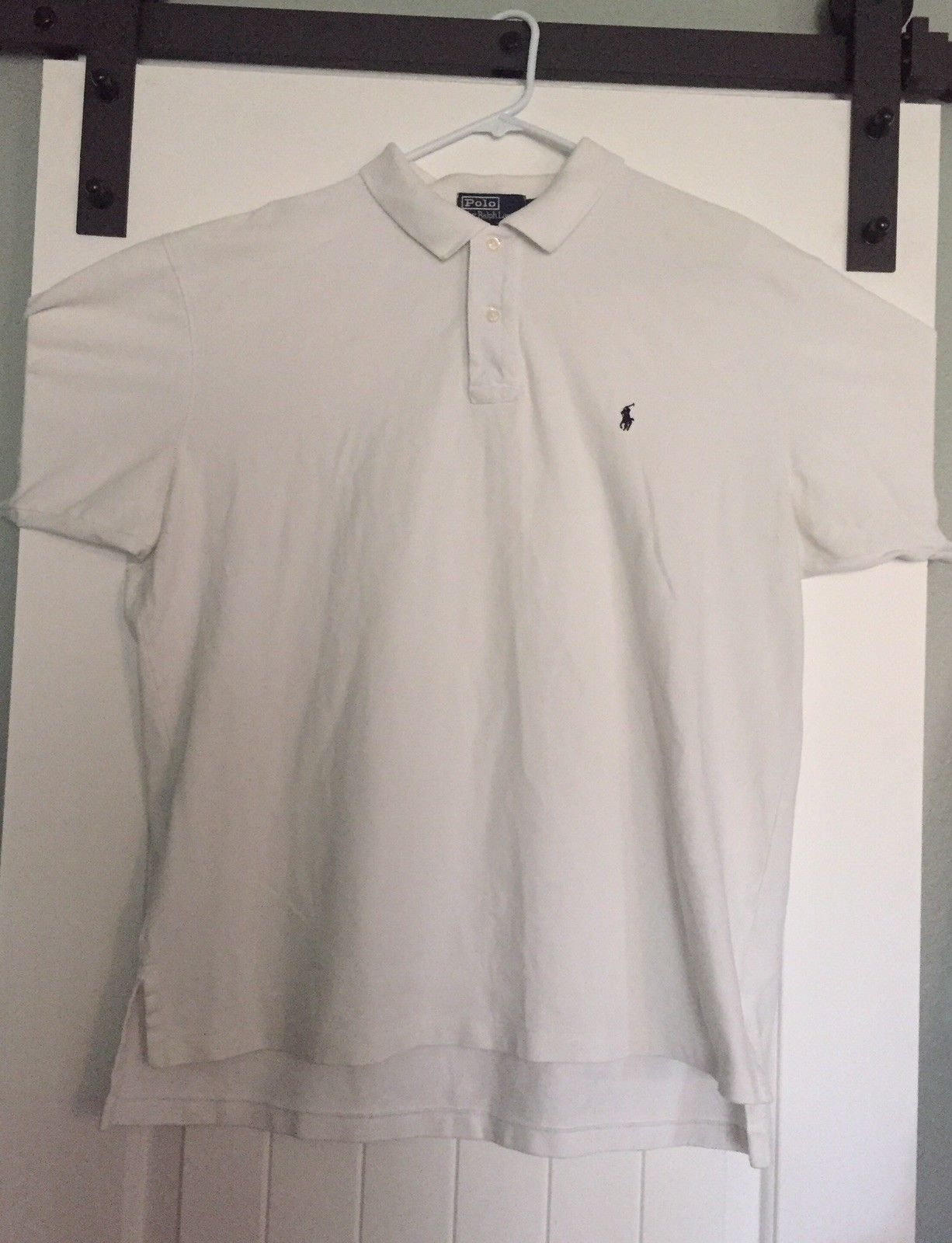 Ralph Lauren Polo White Golf Shirt XXL Bought: $.99 (Goodwill bins) Listed: $14.99 Sold: $11.50 Profit: $10.51 (minus eBay's cut)