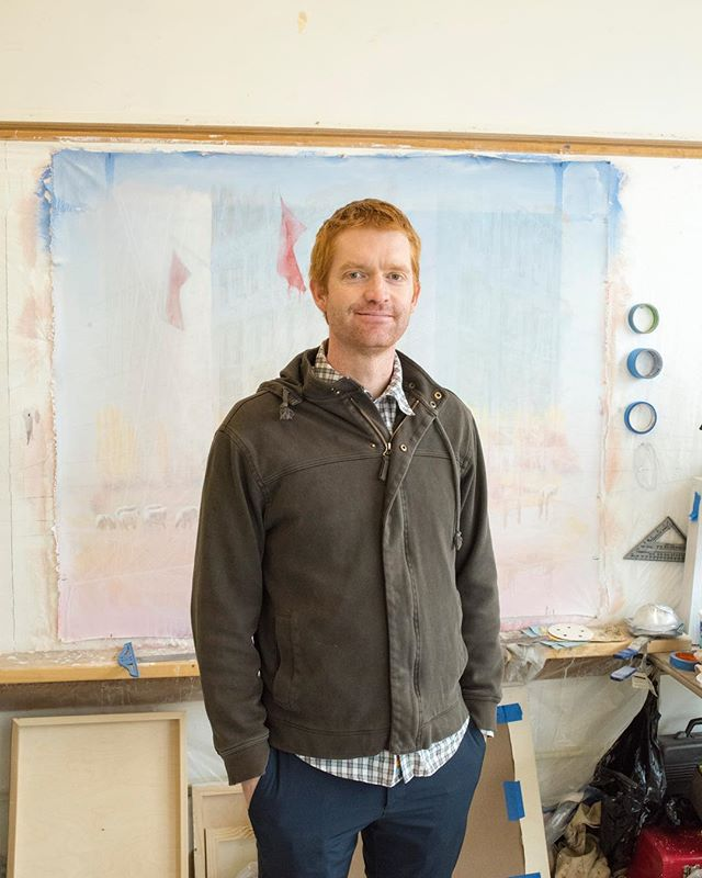 Andrew is a painter from Colorado that's interested in the failures of development. In his paintings, mismatched traces of architecture and technology collide in weathered landscapes of oil, graphite, and other media.  @andrewdines / www.andrewdines.com
