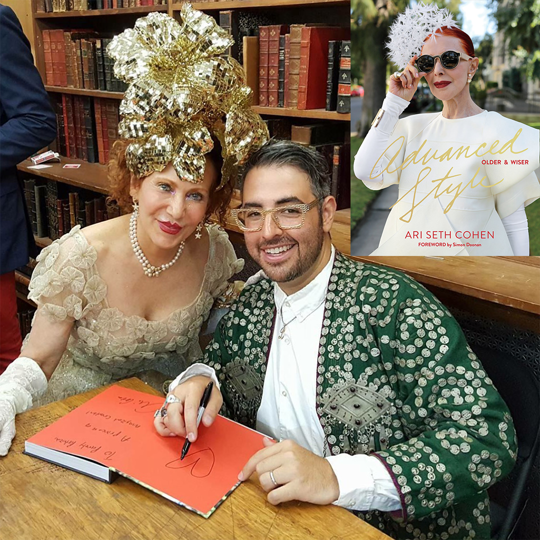 Patricia Fox with Advanced Style author, Ari Seth Cohen