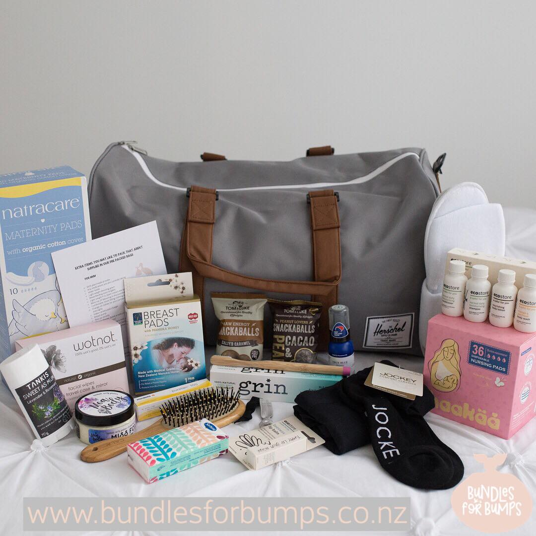 Bundles for Bumps is a NZ business who are here to help you get ready to meet your precious new babe. Their range of pre packed maternity bags take the hassle and uncertainty away from packing your hospital bag. Filled with naturally made essentials required for your trip to the birthing suite and giving you the peace of mind that you are ready to go when baby decides it's time to arrive. They also offer a great selection of pre and post natal care products, with a focus on natural, NZ made products. If you're a pregnant or new Mumma you need to check them out. Use EMPOWER10 for 10% discount.  https://bundlesforbumps.co.nz/