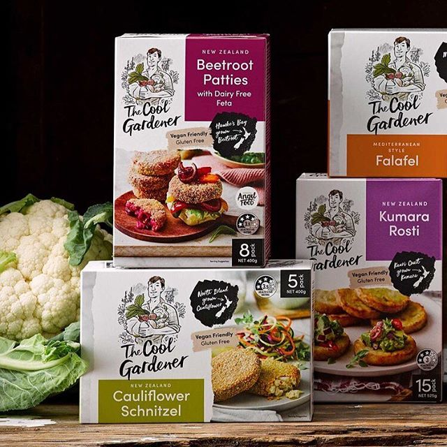 Squad Goals - The Cool Gardener, A new range of FMCG frozen plant-based meals. Making vegan food accessible to the main stream market. Design by me for @curiousdesign_nz 🥦🍠🥬