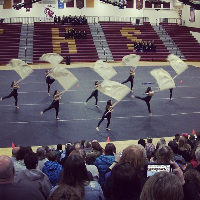 ER Winter Guard had a blast at the Northstar Premiers!! If you missed us tonight, catch us at the basketball game Friday night! #colorguard #band #nsc19 #winter