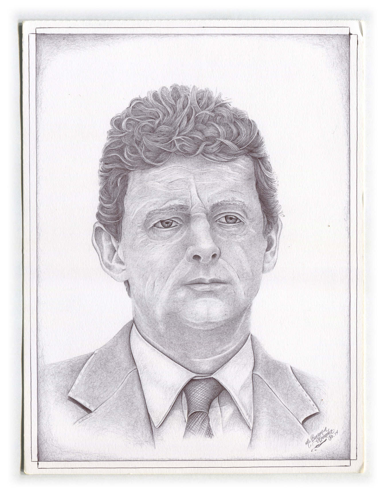 Former CEO of BP Oil as drawn by a man serving 9 years for robbery -