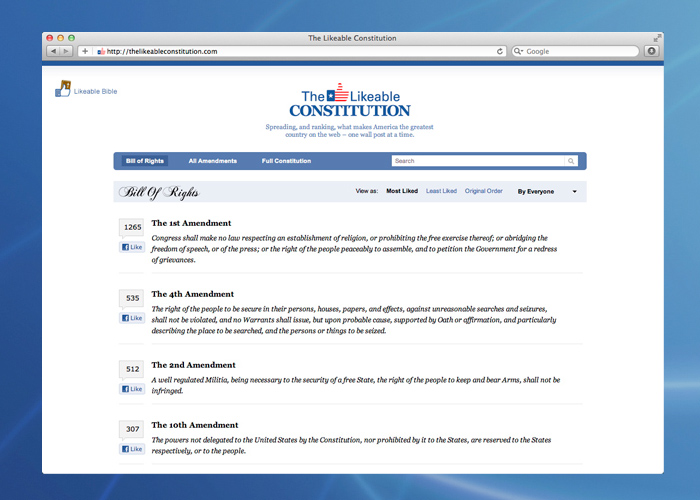 Visit  TheLikeableConstitution.com