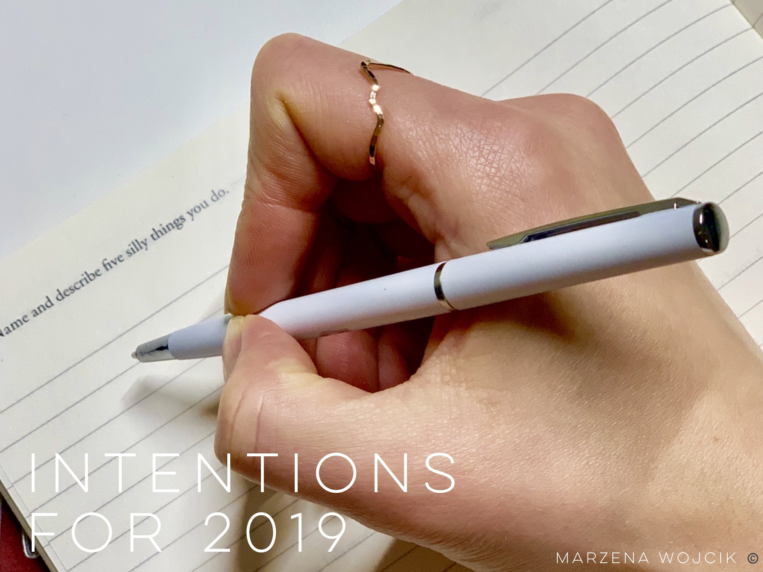 Intentions for 2019