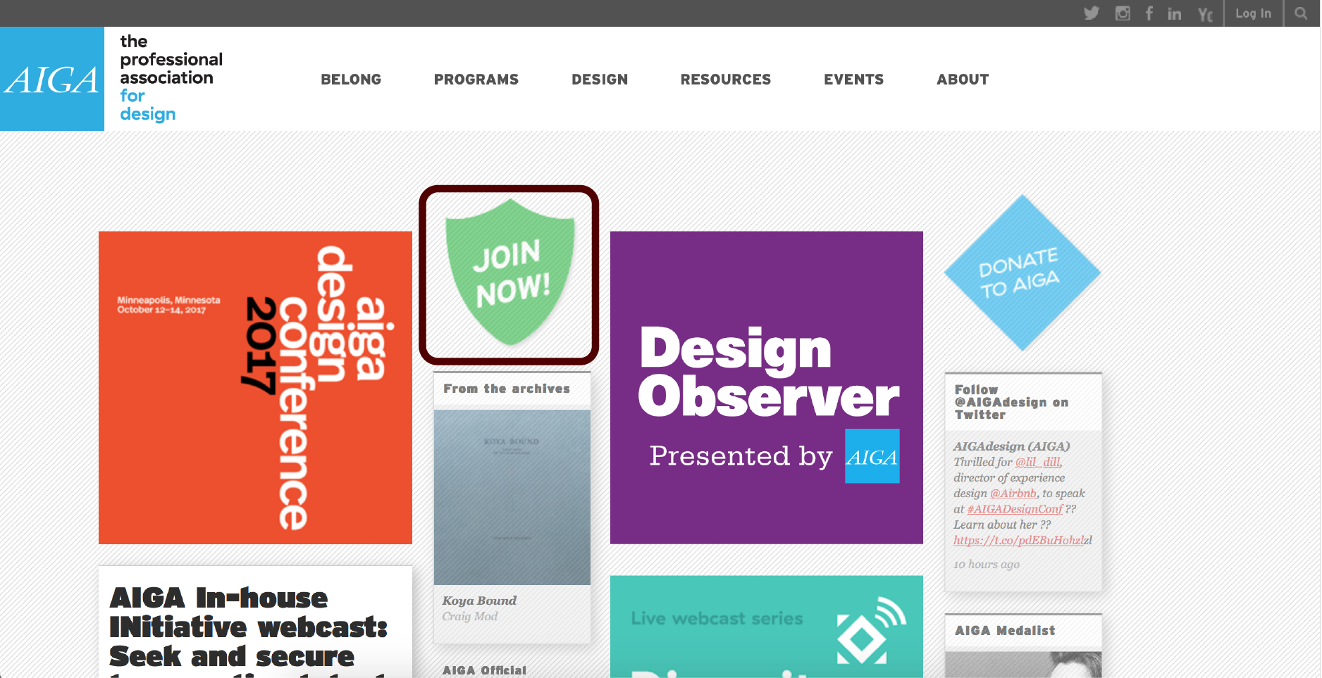 Click above to visit aiga.org and click join now.