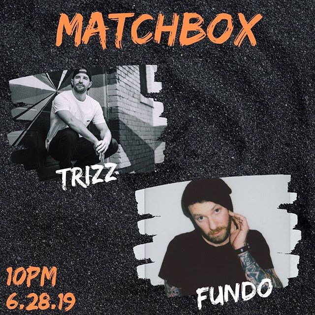Tonight we're having a dance party! We have very special guests @djfundo (MN) and local favorite @thedjtrizz coming in to make sure the tunes are on point. Come on in and shake that thing.