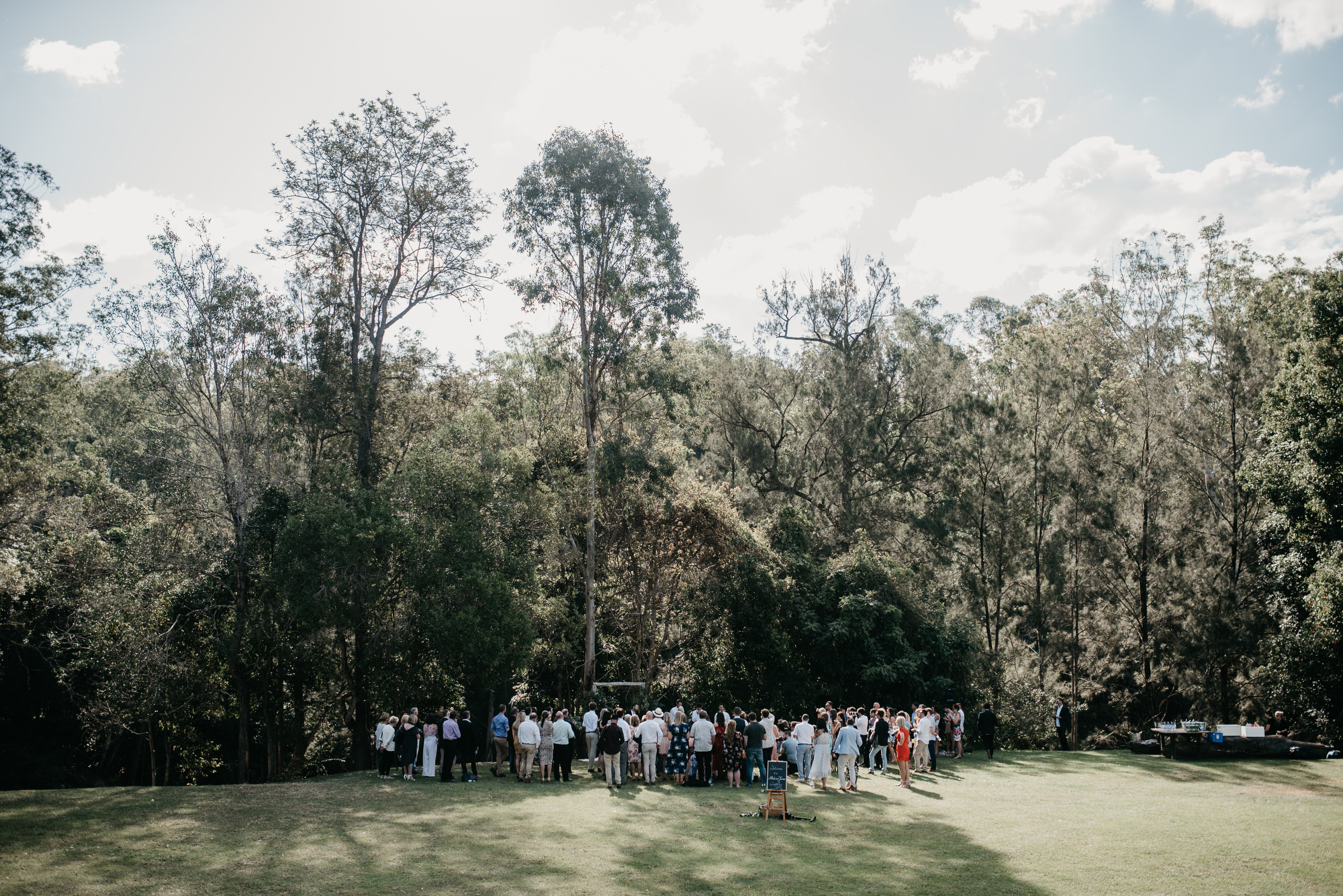 Yabbaloumba Retreat outdoor ceremony Sunshine Coast