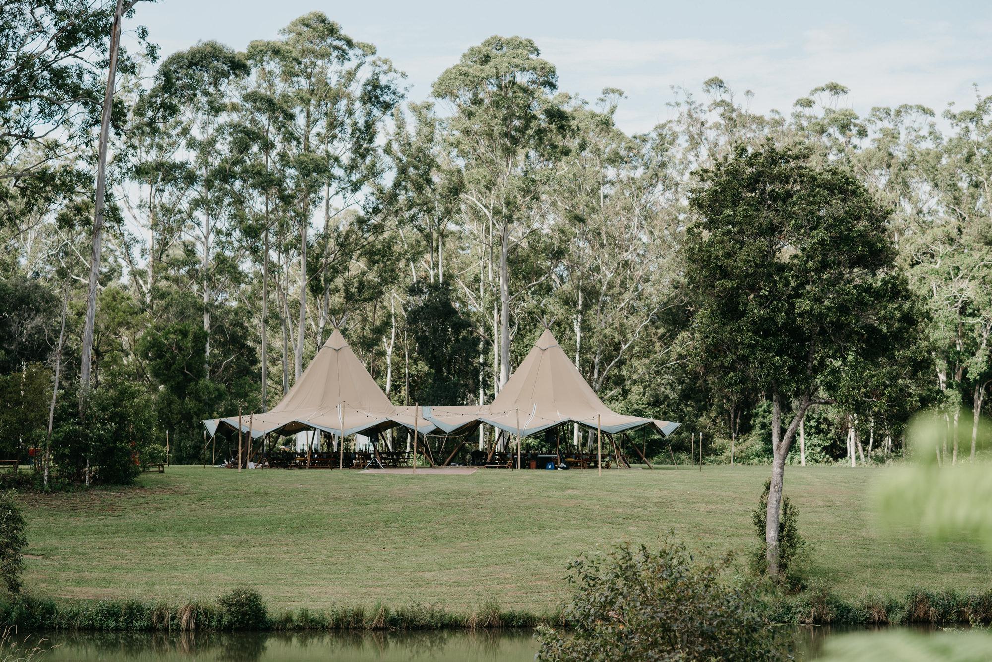 EPHEMERAL CREATIVE Falls Farm Wedding Sunshine Coast with Tipi tent