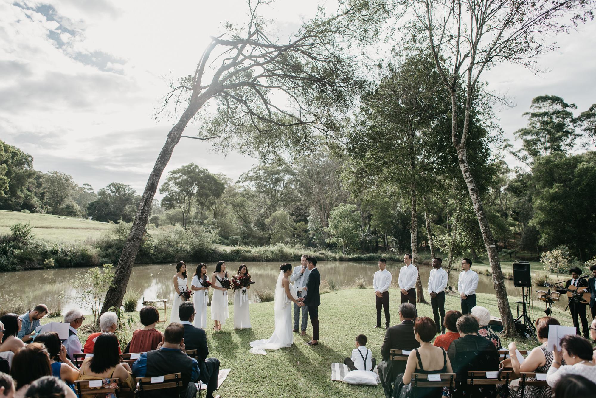 EPHEMERAL CREATIVE Falls Farm wedding ceremony location