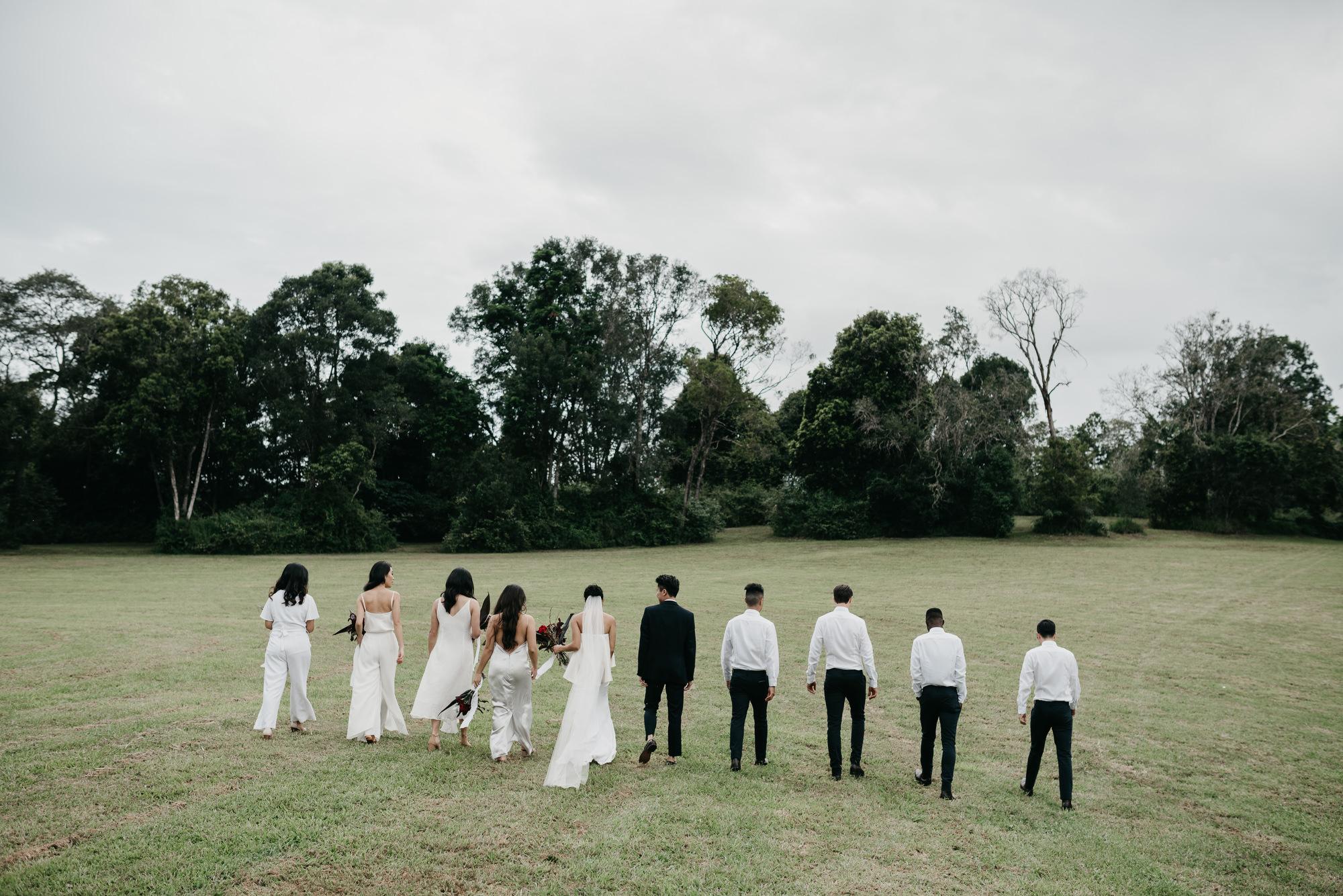 EPHEMERAL CREATIVE Falls Farm wedding Sunshine Coast bridal party