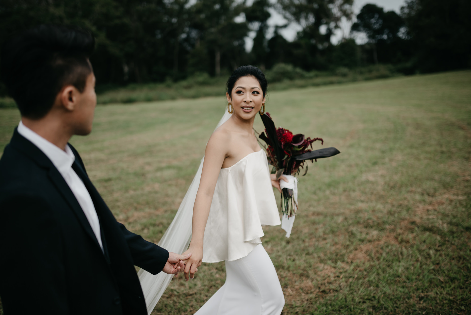 EPHEMERAL CREATIVE Falls Farm wedding bride and groom Sunshine Coast