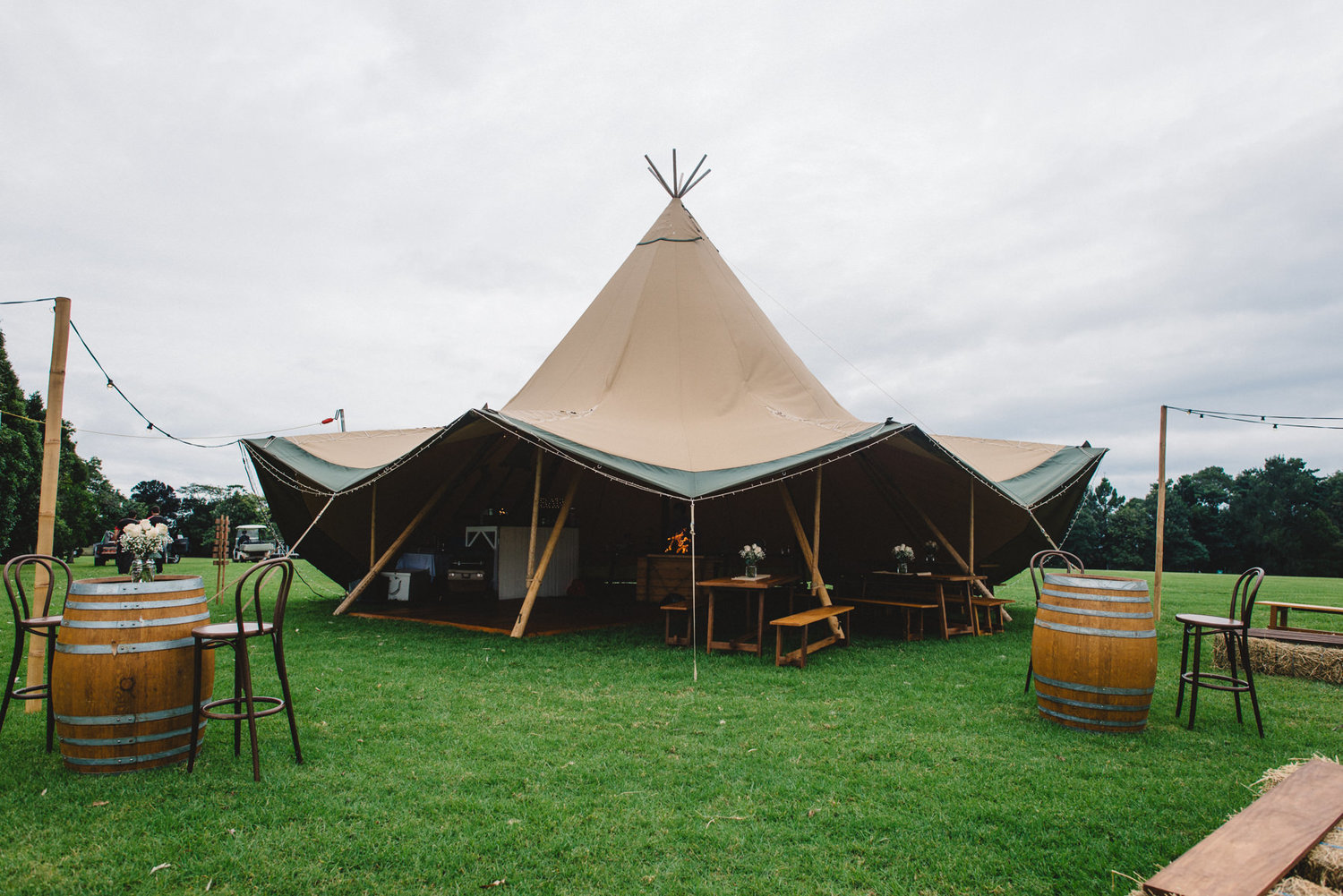 The beautiful Tipi Luxe tent