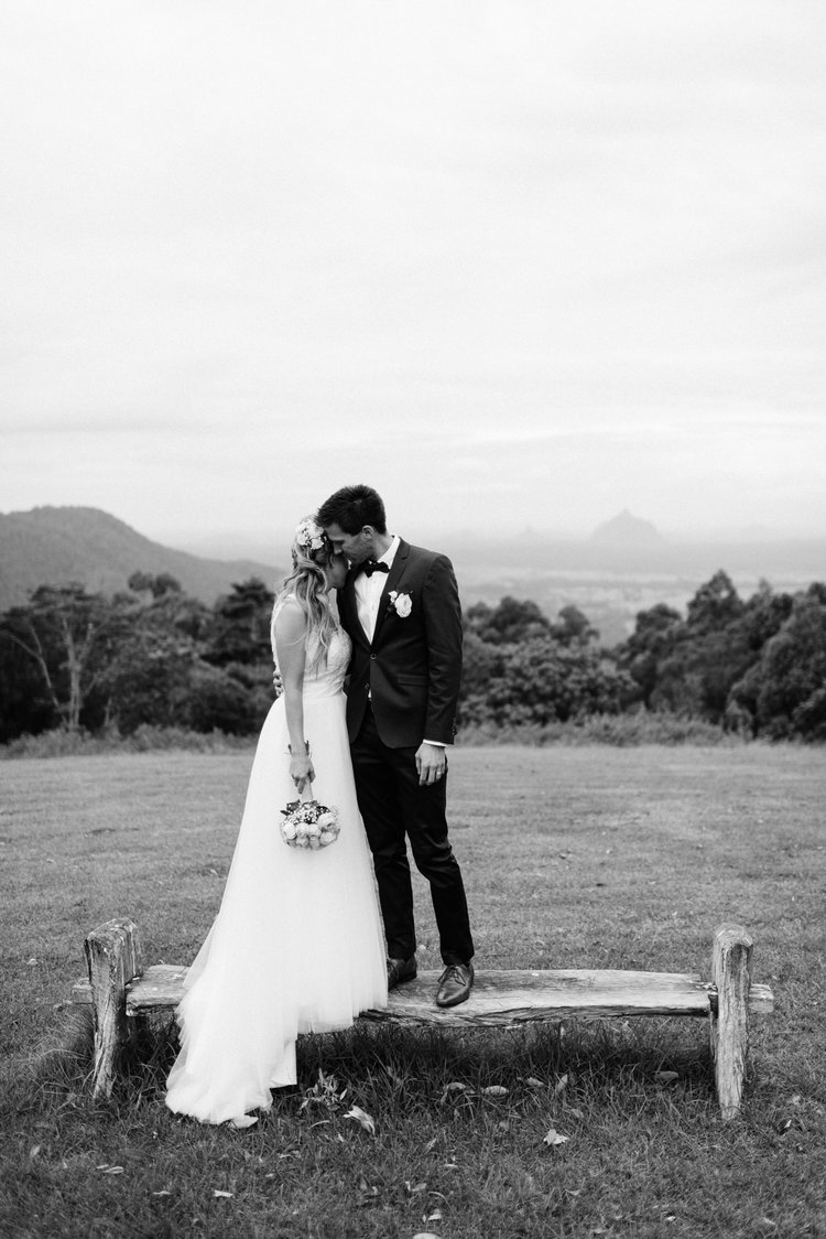Maleny Retreat wedding Sunshine Coast couple