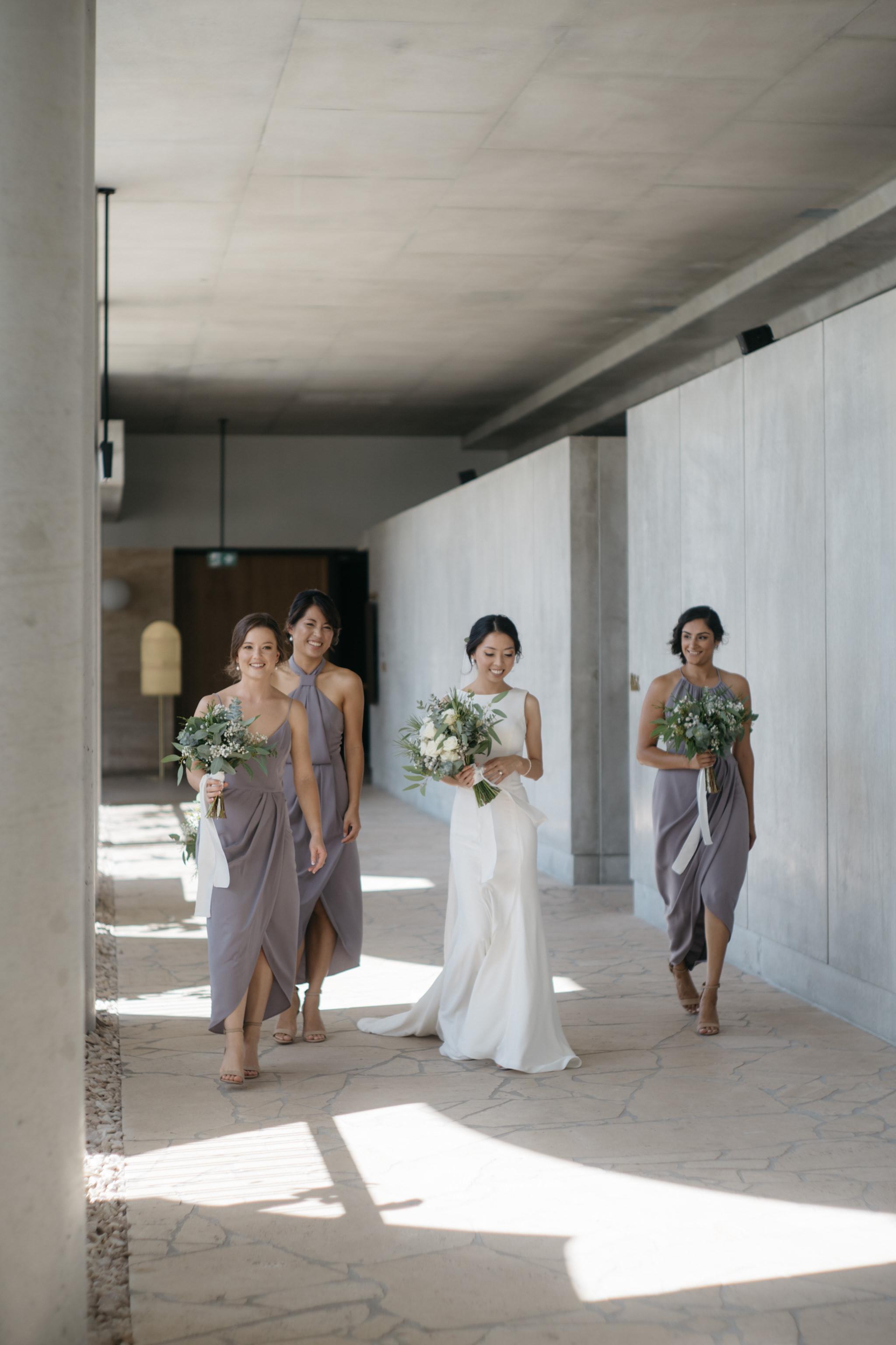 Bride and bridesmaids, The Calile Hotel, Brisbane Wedding, Ephemeral Creative