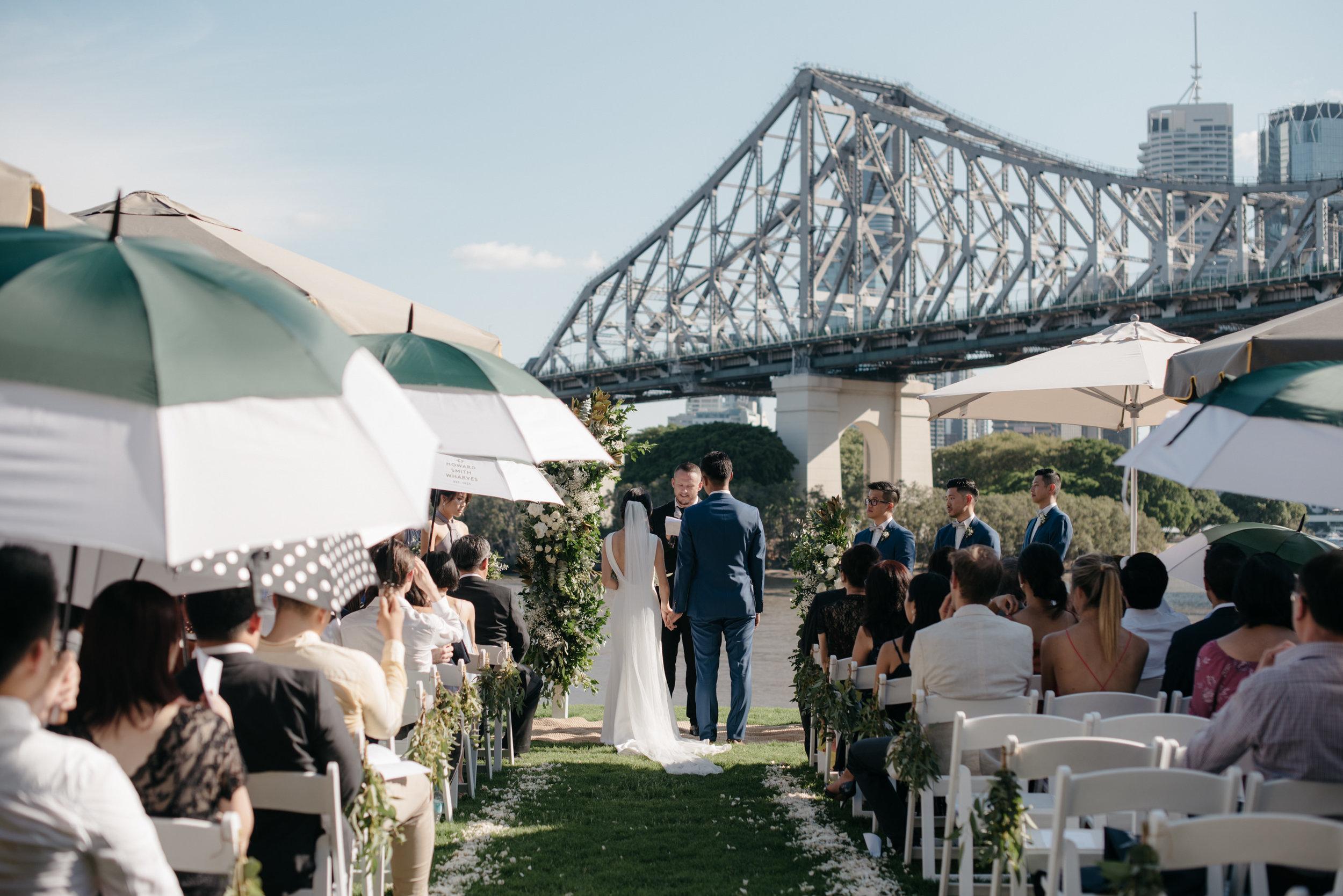 Wedding ceremony at Howard Smith Wharves, Brisbane Wedding, Ephemeral Creative