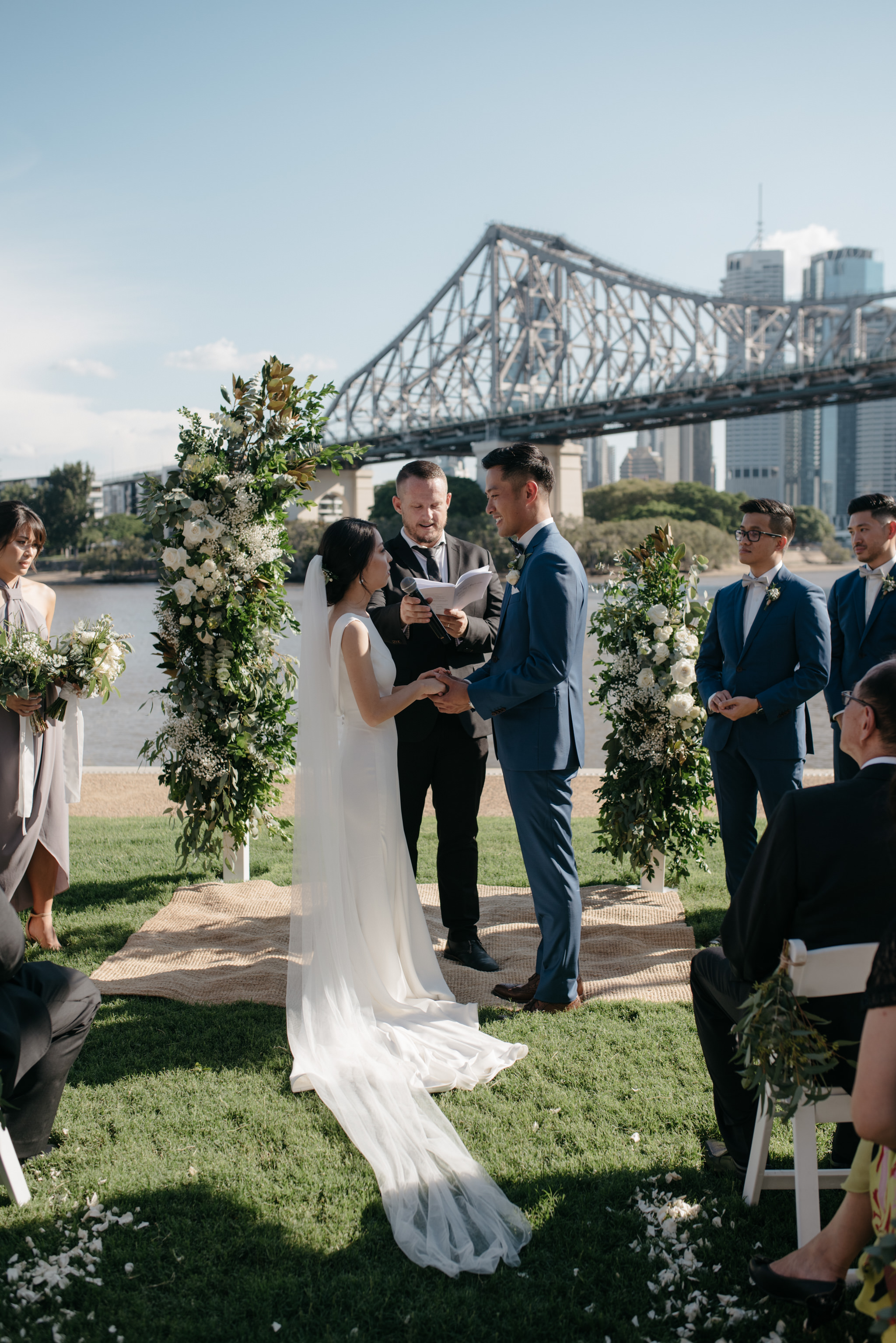 Howard Smith Wharves Wedding ceremony, Ephemeral Creative