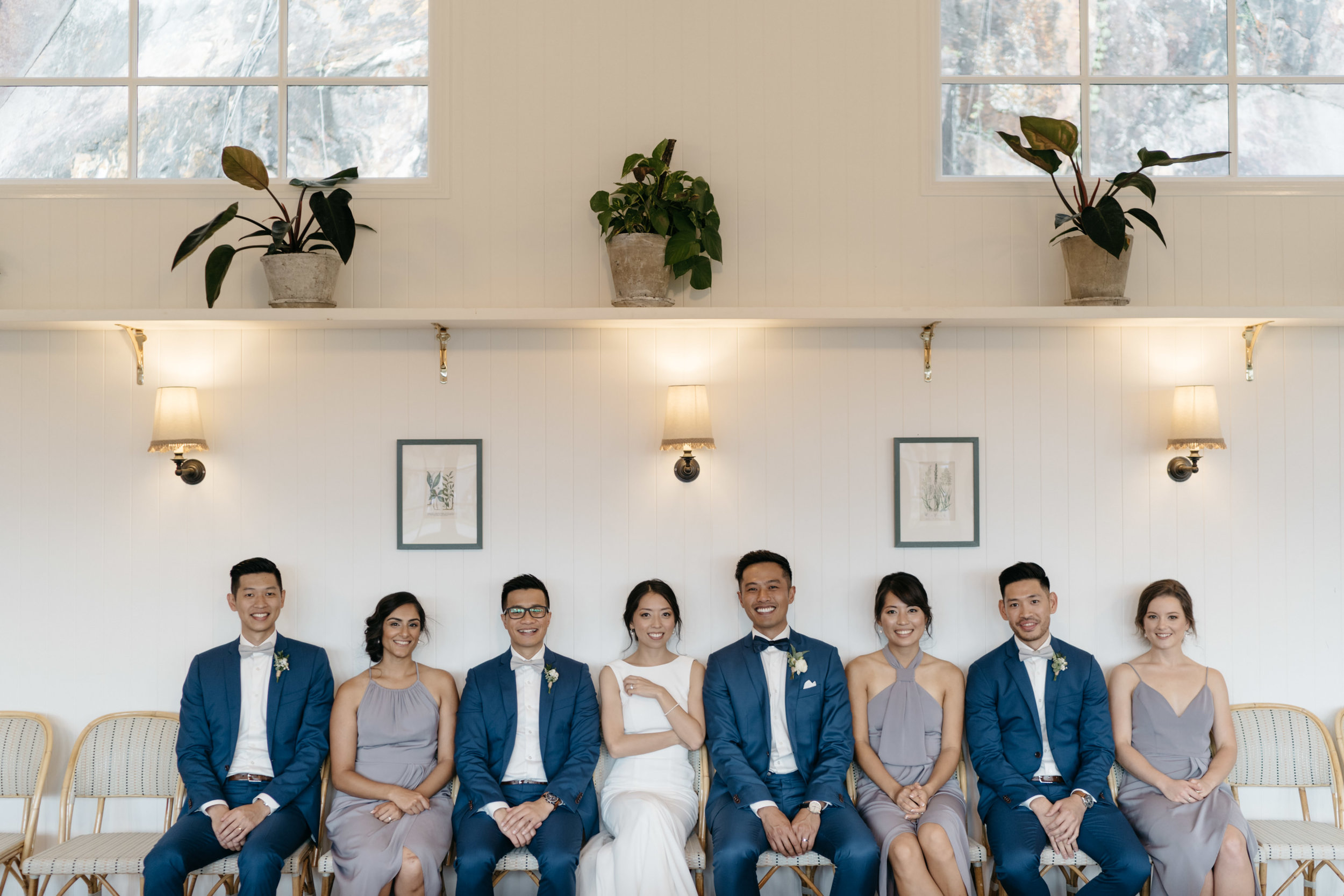 Bridal party portrait at Howard Smith Wharves, Brisbane Wedding, Ephemeral Creative