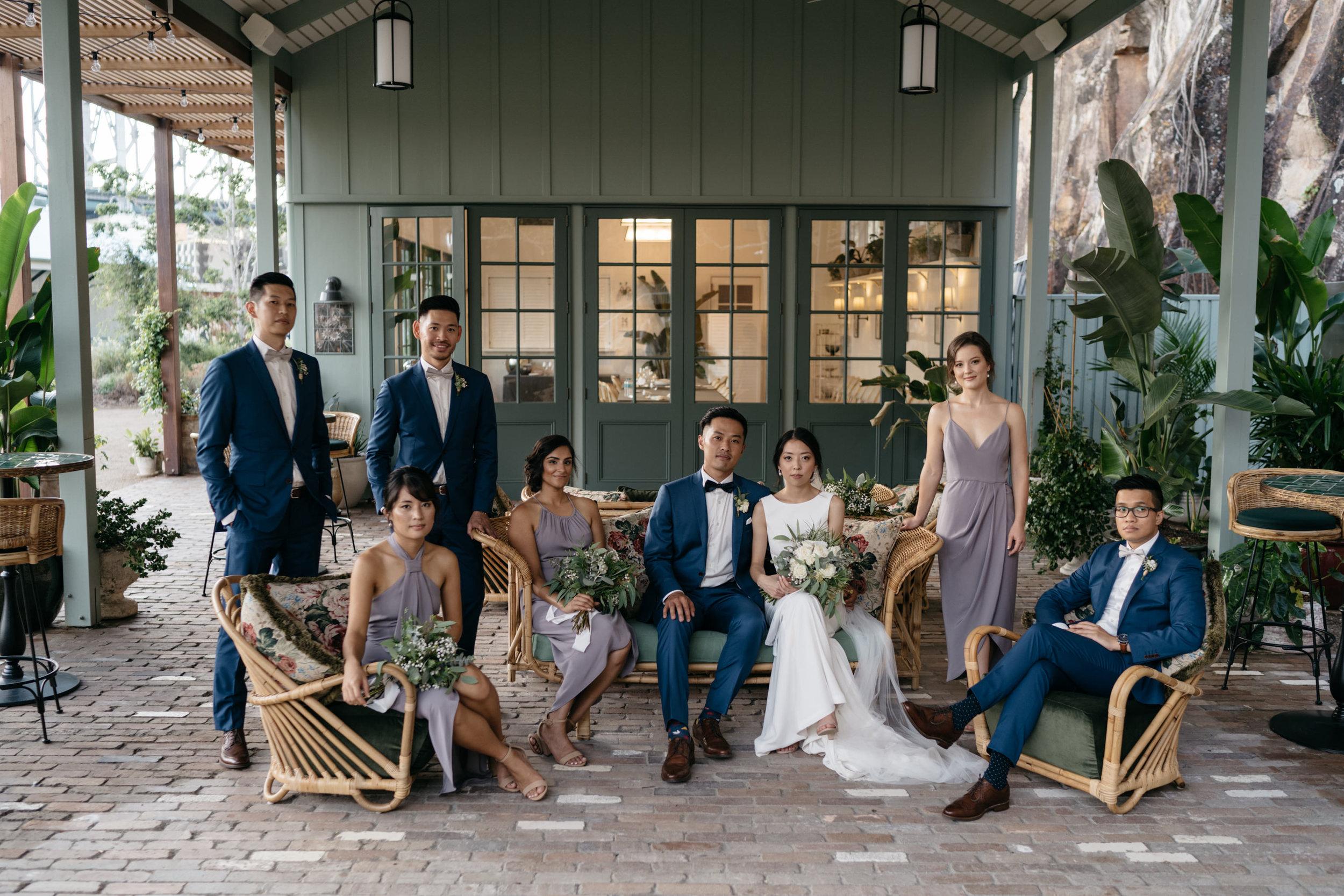 Vanity Fair inspired bridal party at Howard Smith Wharves, Brisbane Wedding, Ephemeral Creative