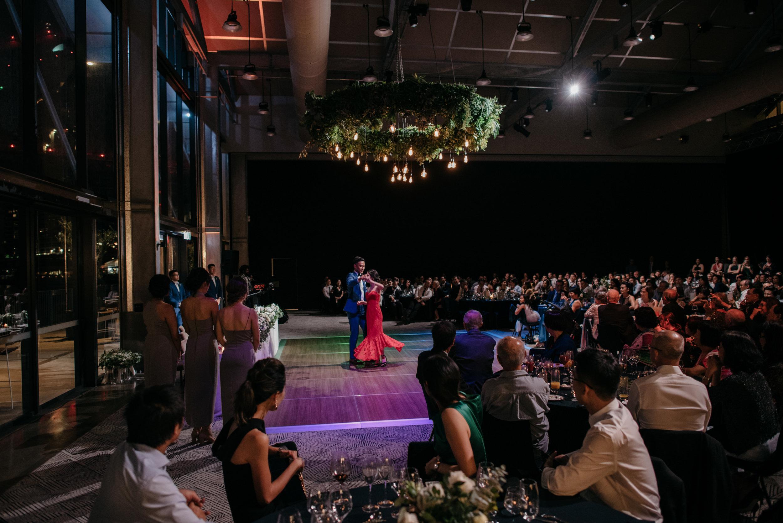 First dance, Howards Hall, Howard Smith Wharves wedding reception, Brisbane Wedding, Ephemeral Creative