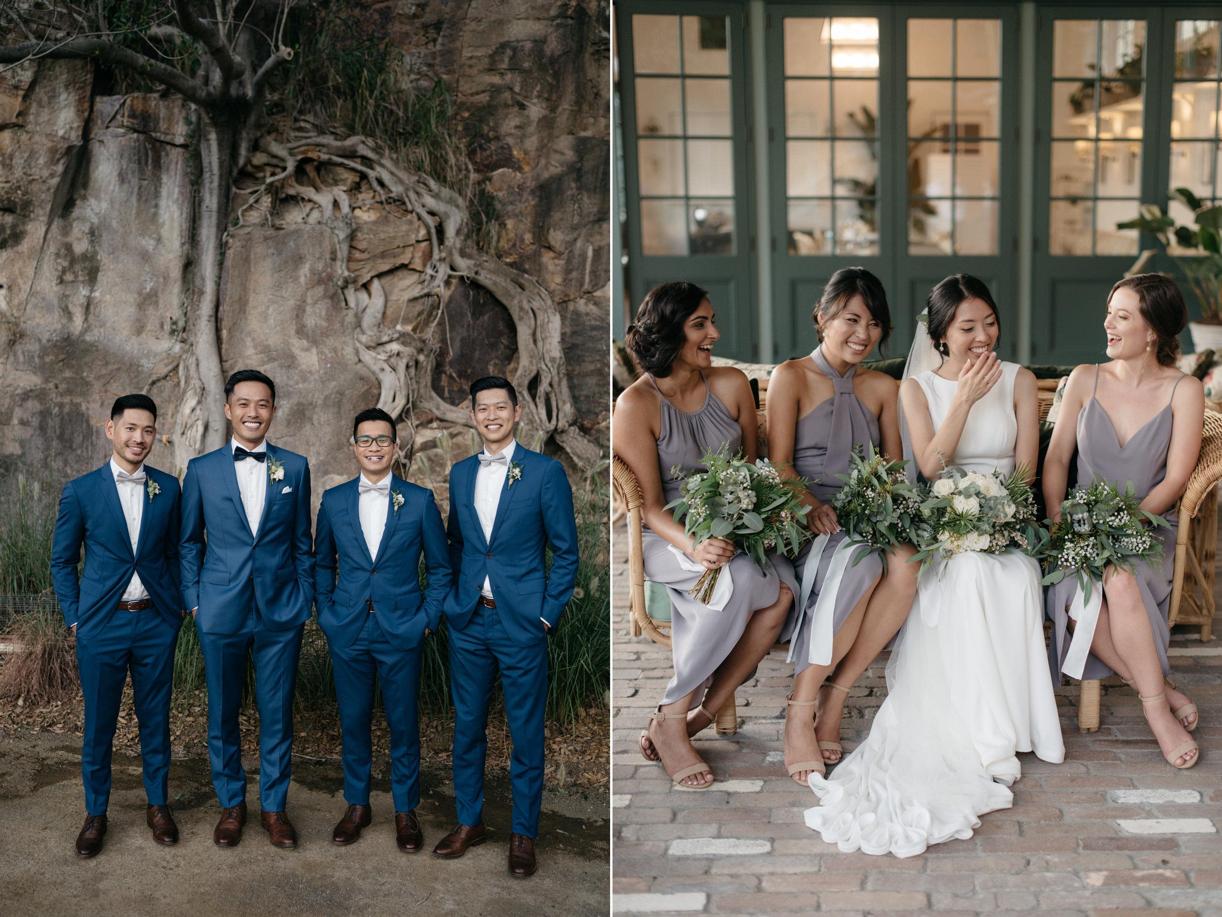 Groomsmen and bridesmaids, Howard Smith Wharves, Brisbane Wedding, Ephemeral Creative