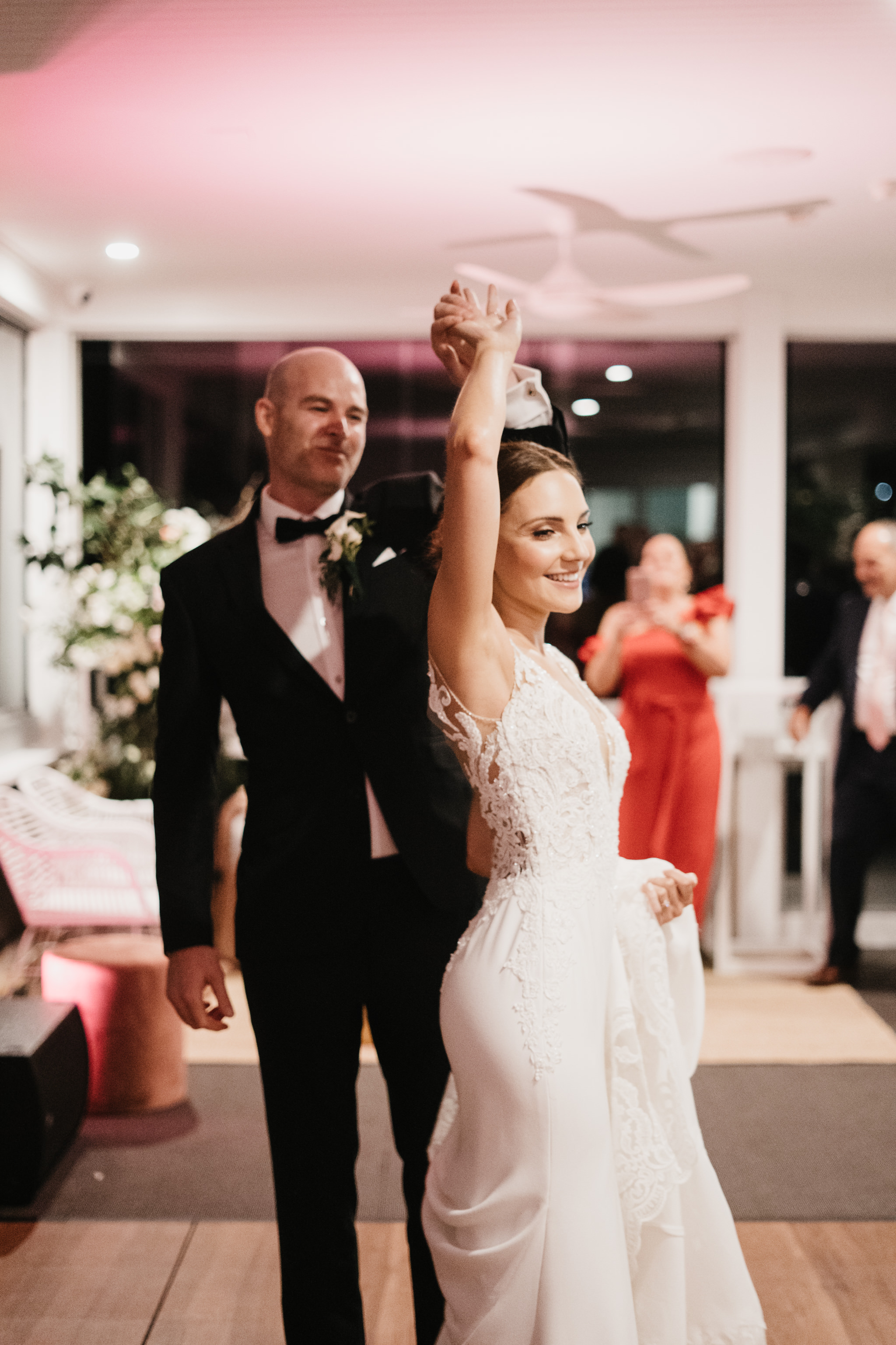 Jacquie and Jon Wedding EPHEMERAL CREATIVE Noosa Boathouse wedding first dance