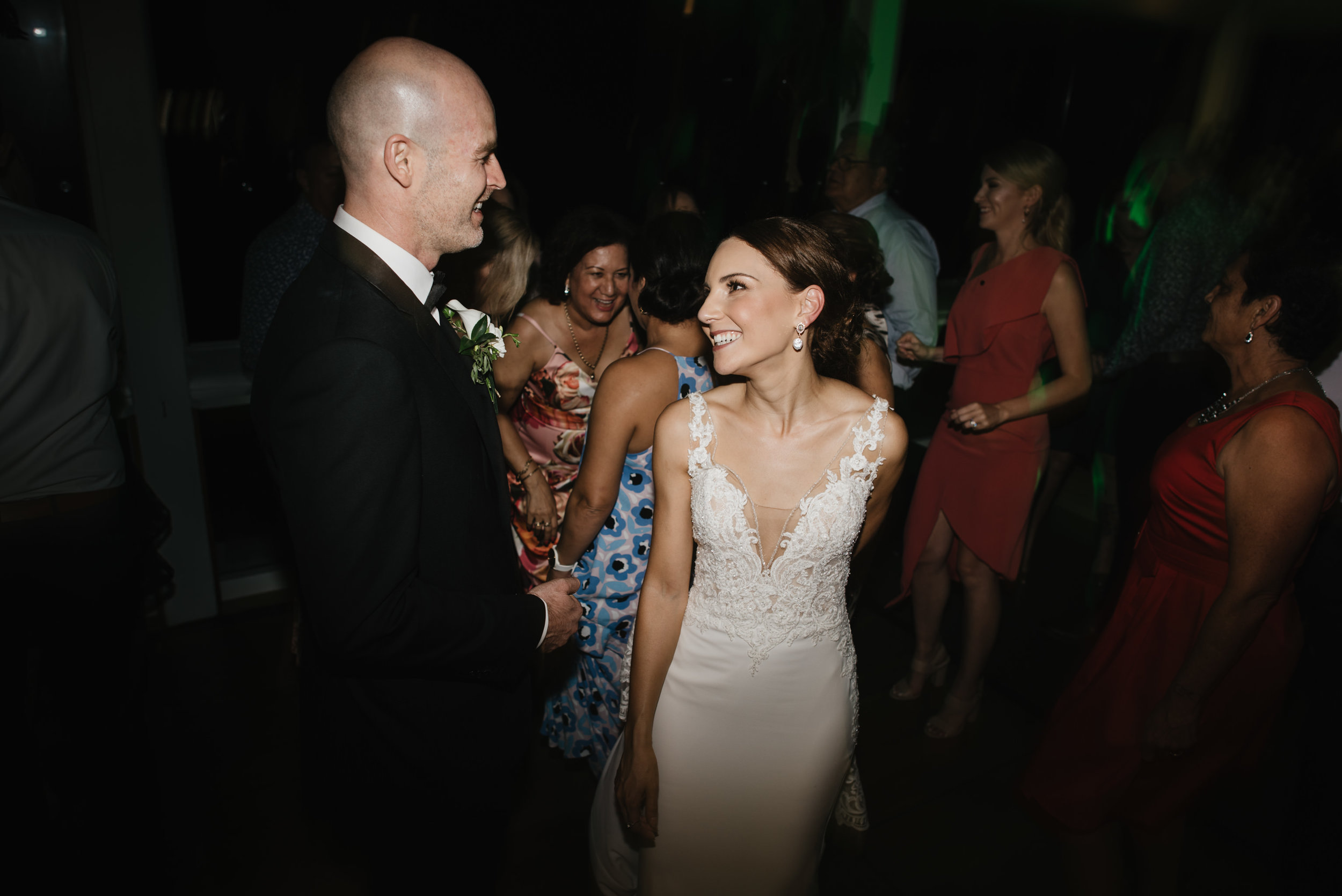Jacquie and Jon Wedding EPHEMERAL CREATIVE Noosa Boathouse wedding dance floor