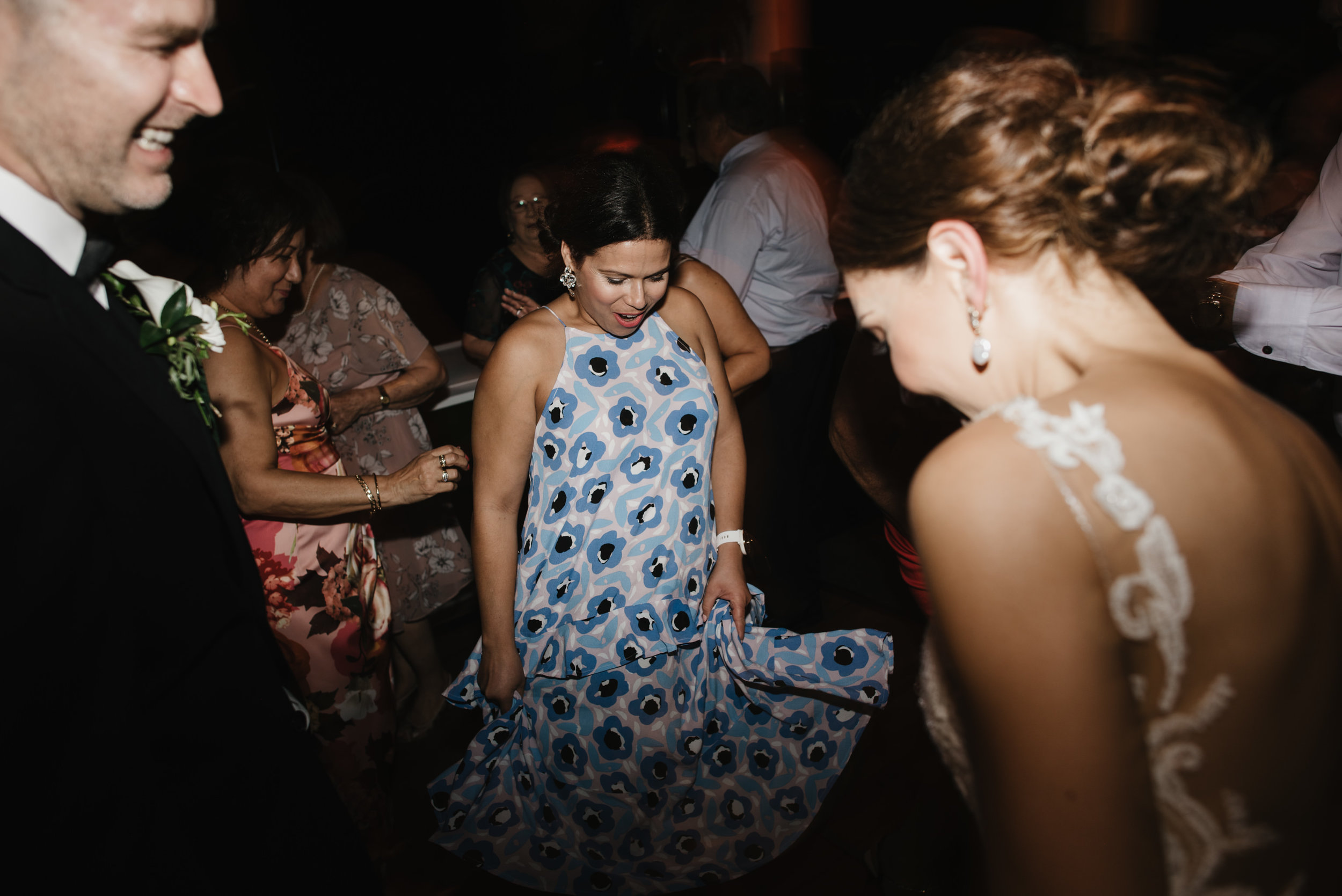 Jacquie and Jon Wedding EPHEMERAL CREATIVE Noosa Boathouse wedding cut a rug dj