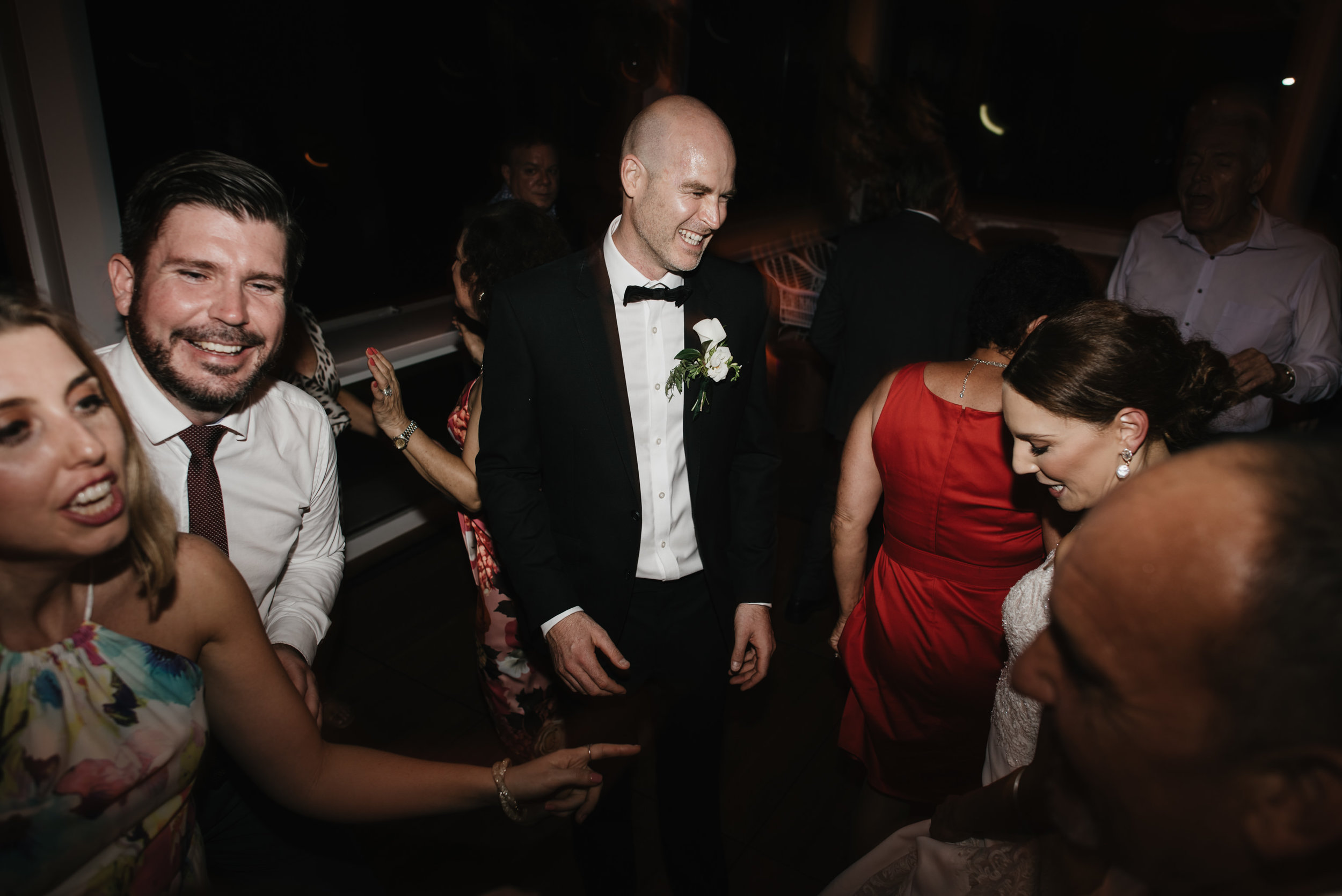Jacquie and Jon Wedding EPHEMERAL CREATIVE Noosa Boathouse wedding dancing